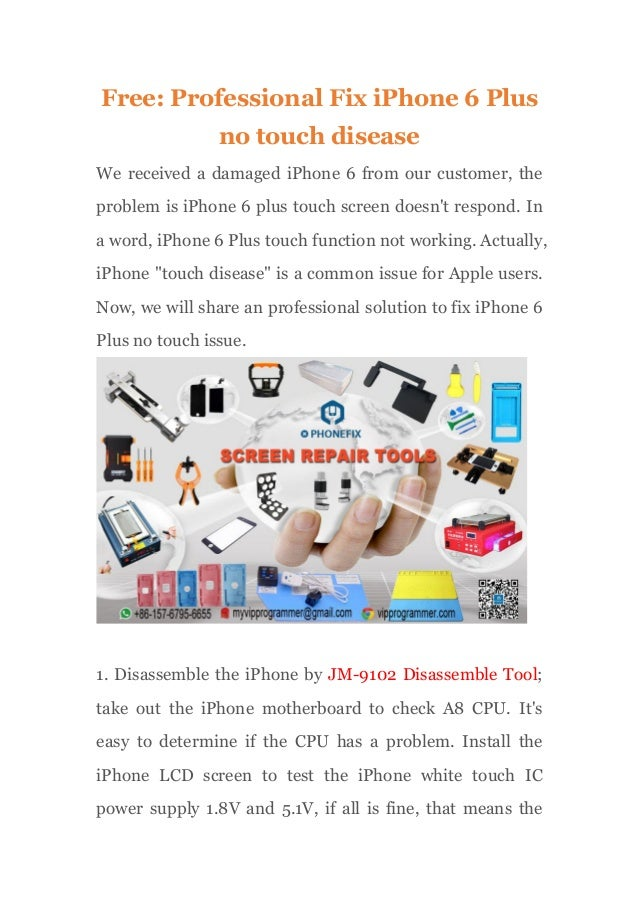Free: Professional Fix iPhone 6 Plus no touch disease