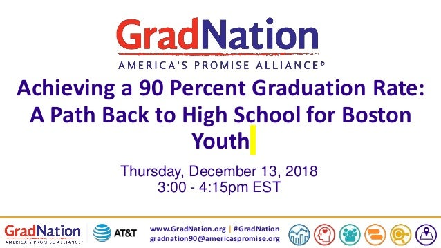 www.GradNation.org | #GradNation gradnation90@americaspromise.org Achieving a 90 Percent Graduation Rate: A Path Back to H...
