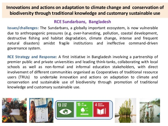 Innovations and actions on adaptation to climate change and conservation of biodiversity through traditional knowledge and...