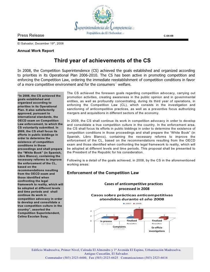 Press Release                                                                                                C.64-08  El S...