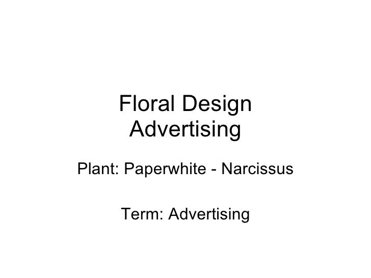 Floral Design Advertising Plant: Paperwhite - Narcissus Term: Advertising