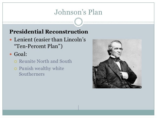 lincolns ten percent plan President lincoln's proclamation of amnesty and reconstruction, issued on  december 8, 1863, outlined his plan for reunion.