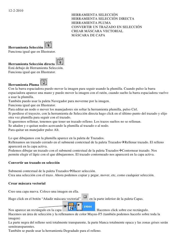 12-2-2010                                              HERRAMIENTA SELECCIÓN                                              ...