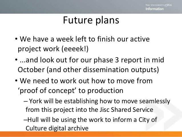 Do talk to me if you are interested in finding out more about this project Useful links: Project website: http://www.york....