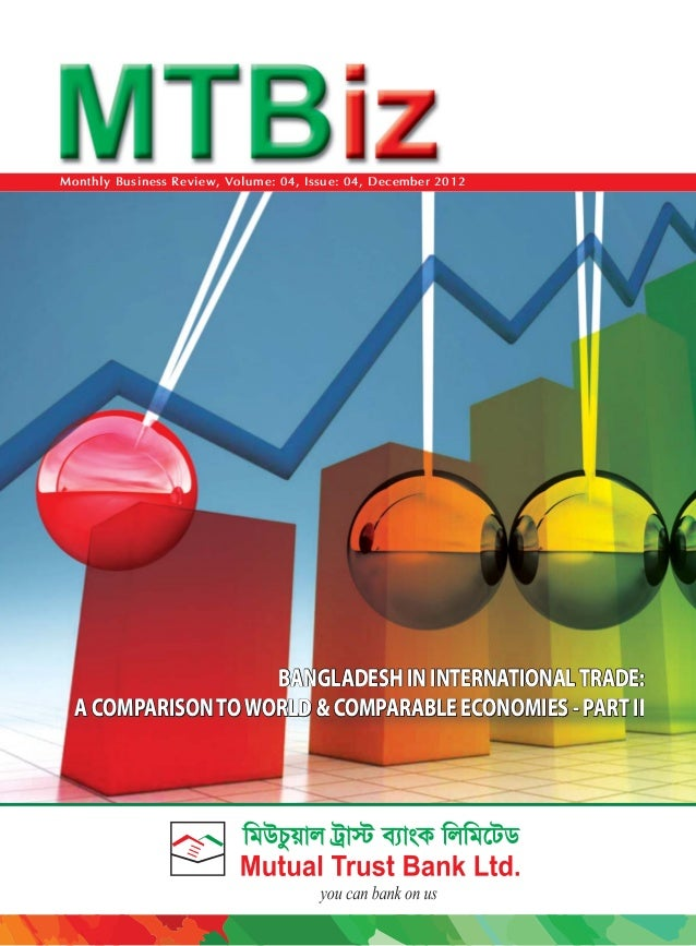Monthly Business Review, Volume: 04, Issue: 04, December 2012  BANGLADESH IN INTERNATIONAL TRADE: A COMPARISON TO WORLD & ...