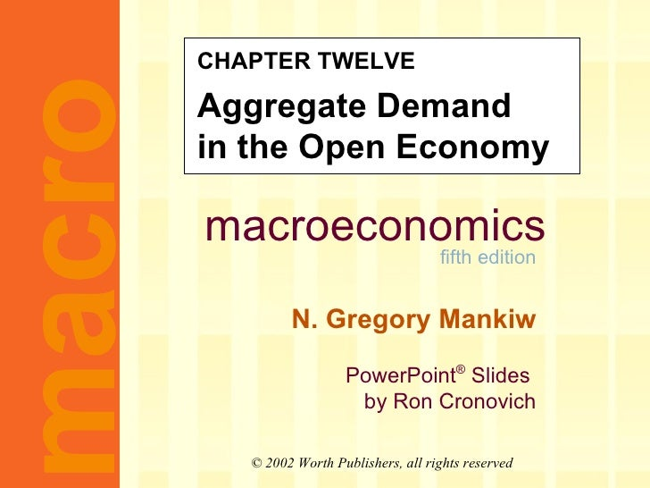 CHAPTER TWELVE Aggregate Demand  in the Open Economy