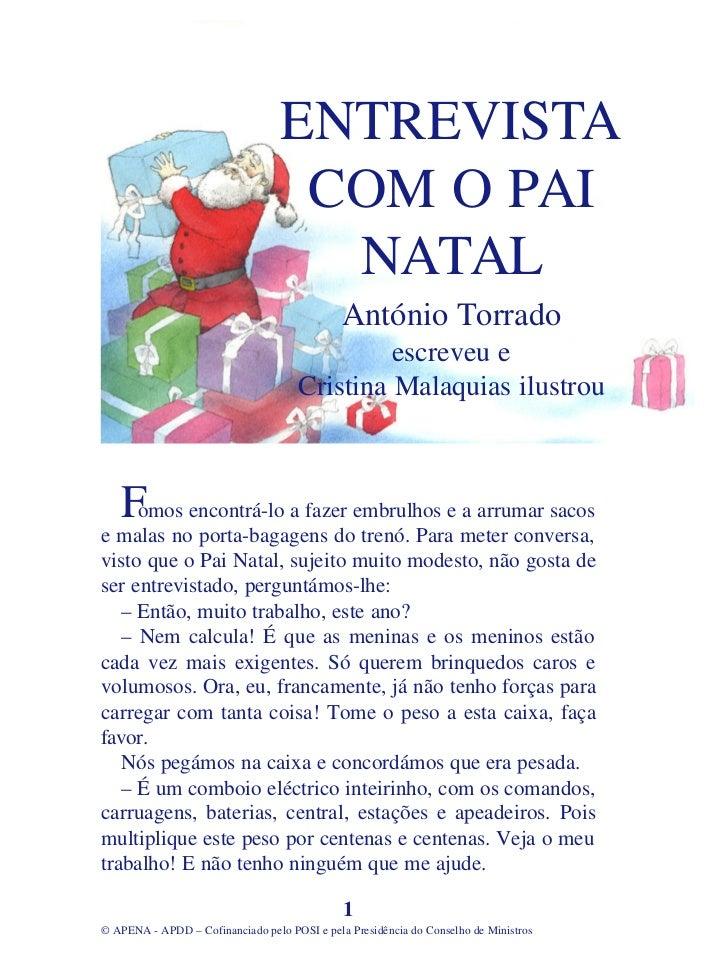 ENTREVISTA                                   COM O PAI                                    NATAL                           ...