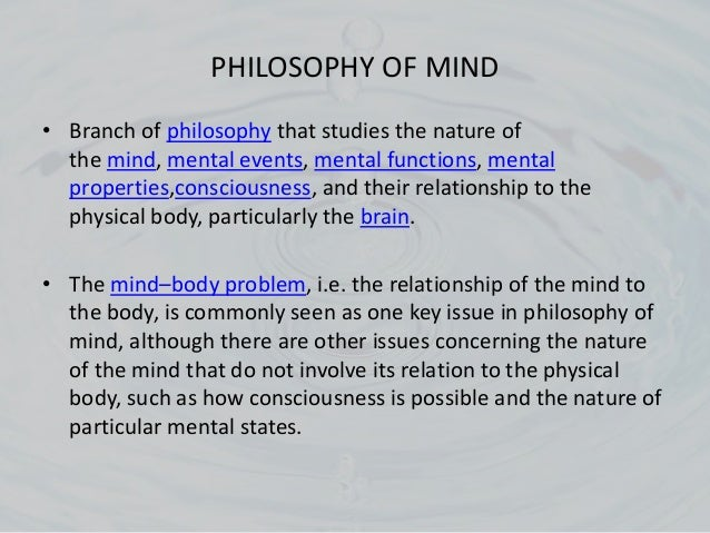 an analysis of the mind brain problem concerning dualism and materialism Is the conscious mind just the brain or something more according to that form of dualism, the mind and body were two metaphysically distinct substances materialism & the mind-body problem john searle (2005.