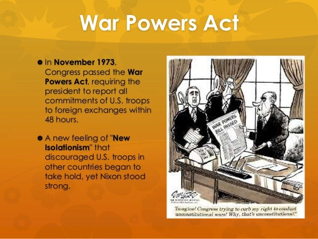 the war powers act Find out your understanding of the war powers act of 1973 with this interactive quiz and printable worksheet you can access these tools at any.