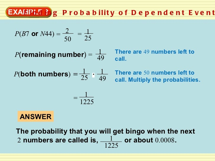 independent and dependent events – Dependent Probability Worksheet