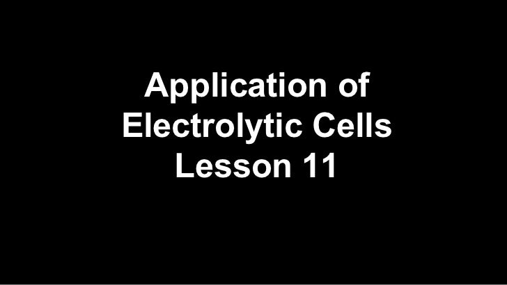 application electrolytic cells