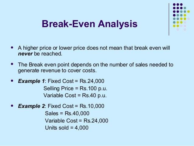 Lovely Break Even Analysis ... Regard To Define Breakeven Analysis