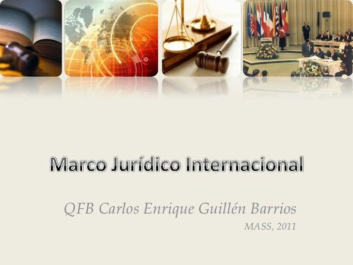 QFB Carlos Enrique Guillén Barrios MASS, 2011
