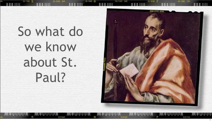Paul of tarsus essay significant