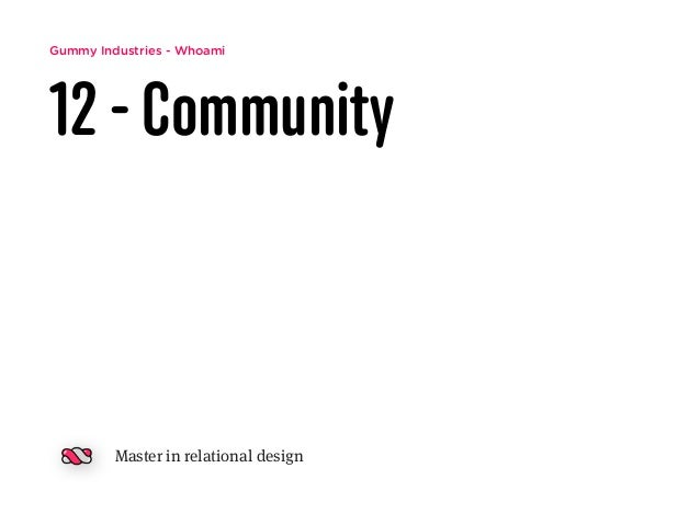 Gummy Industries - Whoami 12 - Community Master in relational design