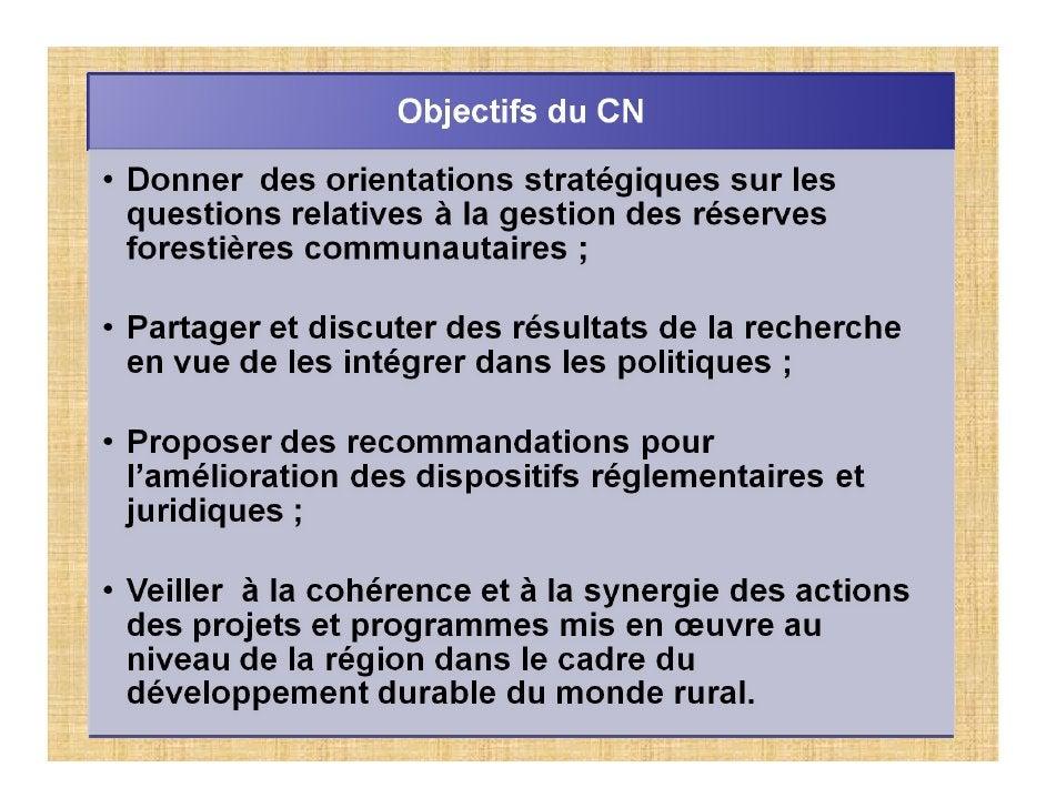 recommandations                         Fonctionnement du CN             Orientations                                     ...
