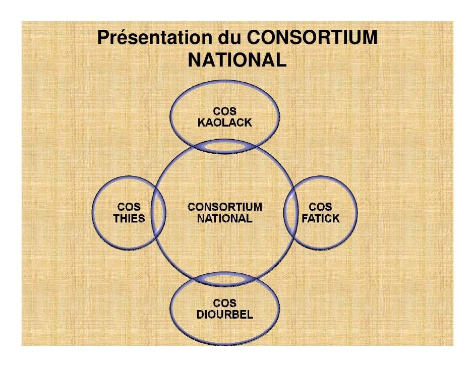 Présentation du CONSORTIUM           NATIONAL