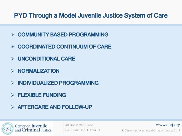designing an effective juvenile delinquents rehabilitation center Limitations on control group designs) exist in determining for whom these facilities   (houses of refuge) in major cities to help control juvenile delinquency ( krisberg  2005)  ed toward rehabilitation, the new focus on due process  resulted in the juvenile system  evidence of these facilities' effectiveness is at  best minimal.