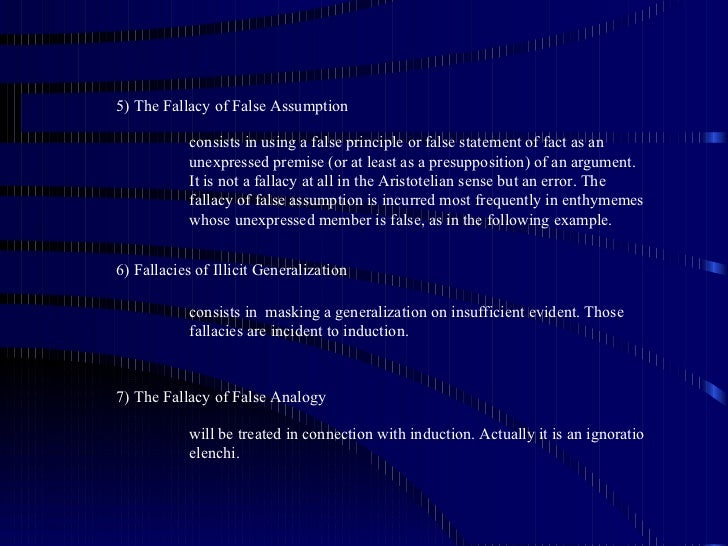 absolute and qualified statement fallacy examples