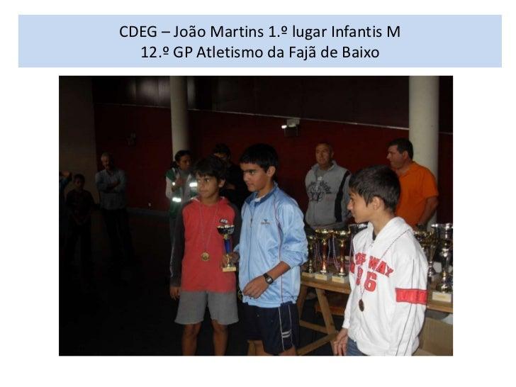CDEG – João Martins 1.º lugar Infantis M  12.º GP Atletismo da Fajã de Baixo