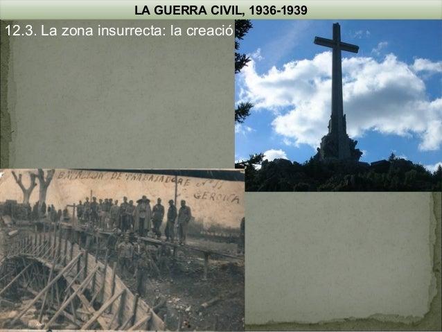 LA GUERRA CIVIL, 1936-1939  12.3. La zona insurrecta: la creació d'un estat totalitari