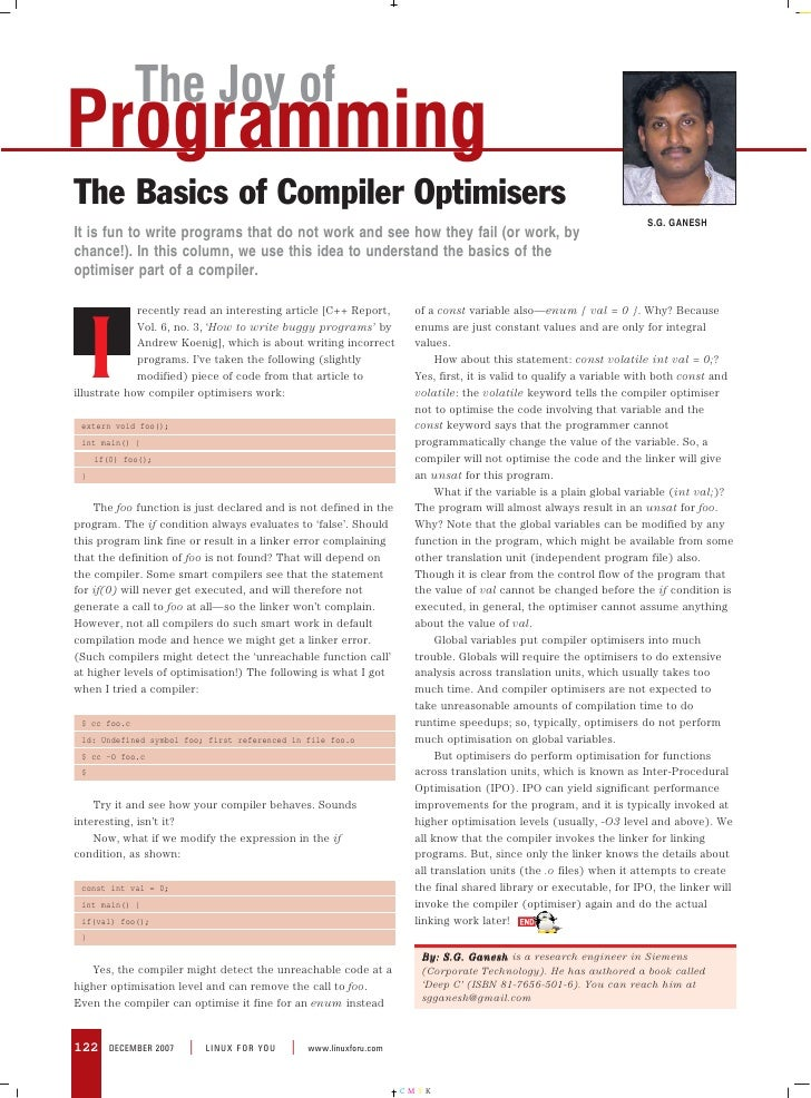 The Joy of Programming The Basics of Compiler Optimisers                                                                  ...
