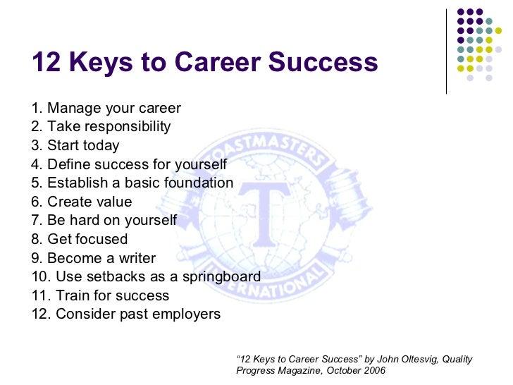 define career success
