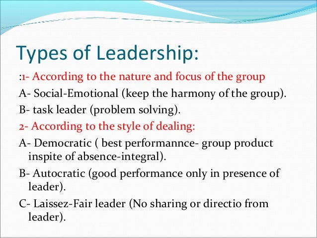 Educational physiology in leadership training