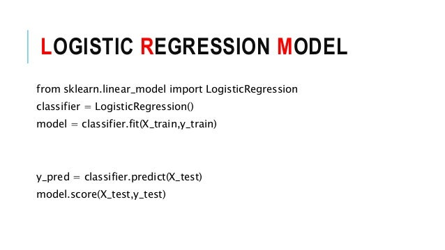 logistic regression with python and R