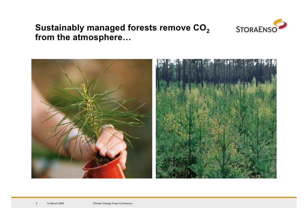 Stora Enso - Climate Change Presentation, 2008-03-12 Slide 3