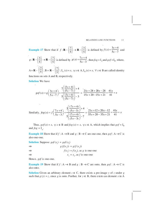 NCERT Solution Class 12 Maths Chapter 1 Relation and Function