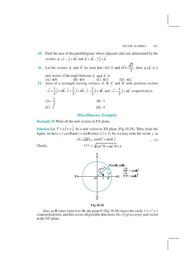 NCERT Books for Class 12 Maths Chapter 10 Vector Algebra