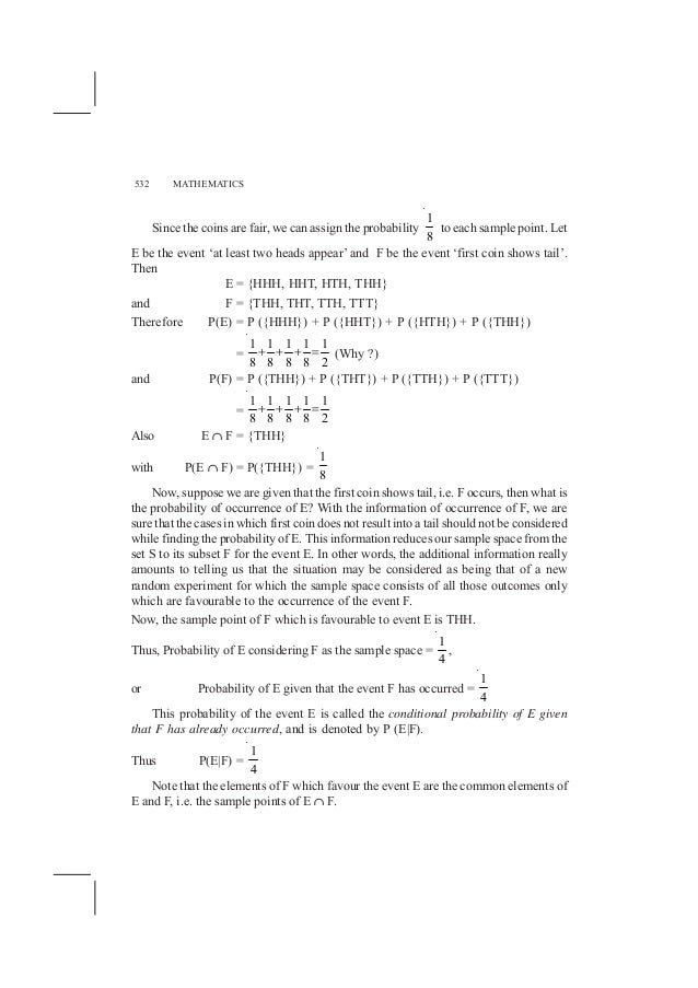 NCERT Books for Class 12 Maths Chapter 13 Probability