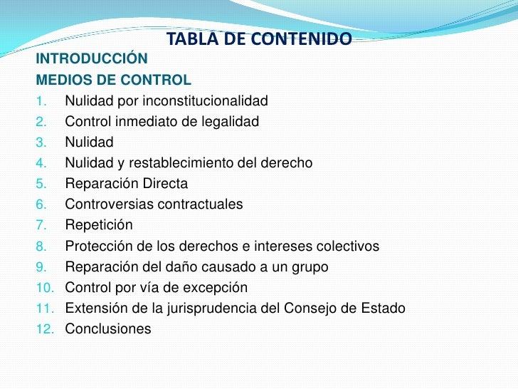 12 medios de-control en el Código Contencioso Administrativo Slide 3