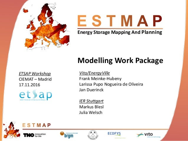 Energy Storage Mapping And Planning Modelling Work Package Vito/EnergyVille Frank Meinke-Hubeny Larissa Pupo Nogueira de O...