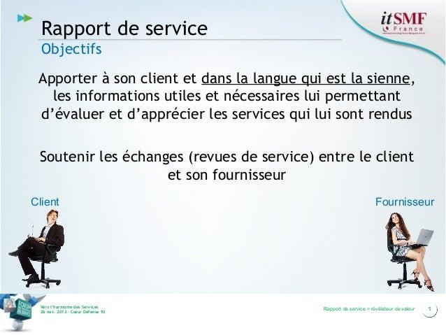 Rapport de service Objectifs Apporter à son client et dans la langue qui est la sienne, les informations utiles et nécessa...