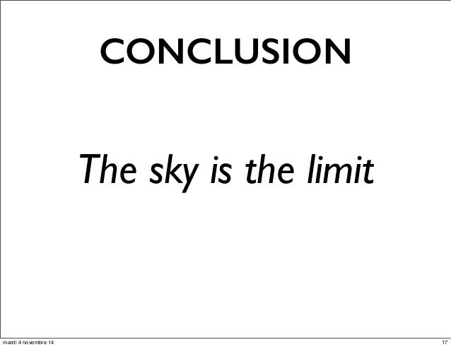 CONCLUSION  The sky is the limit  mardi 4 novembre 14 17