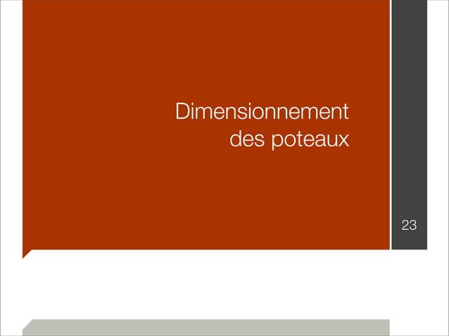 Dimensionnement  des poteaux  23