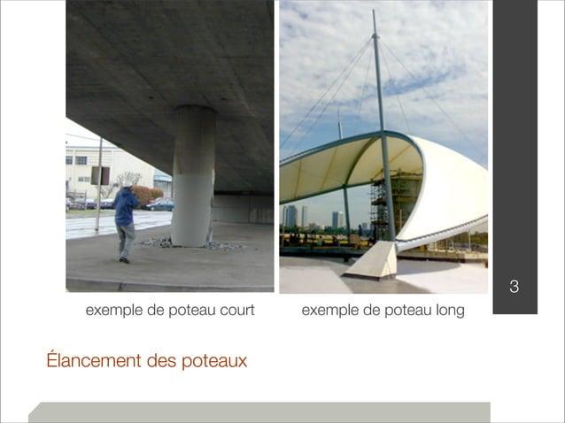 Élancement des poteaux  3  exemple de poteau court exemple de poteau long