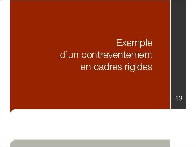 Exemple  d'un contreventement  en cadres rigides  33