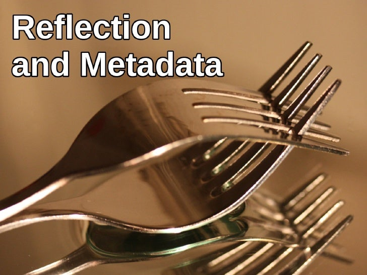ReflectionMichal P´se (CTU in Prague)        ıˇ                    Object Programming Lect. 12: Reflection and Metadata Dece...