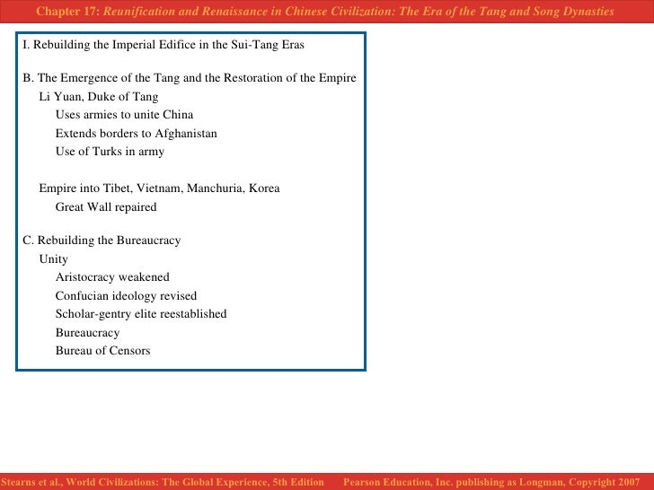 rebuilding the imperial edifice in the sui-tang era essay Ch 12 study guide: reunification and renaissance in chinese civilization: tang & song dynasties i rebuilding the imperial edifice in the sui-tang eras 1 explain how wendi came to power and began the sui dynasty.