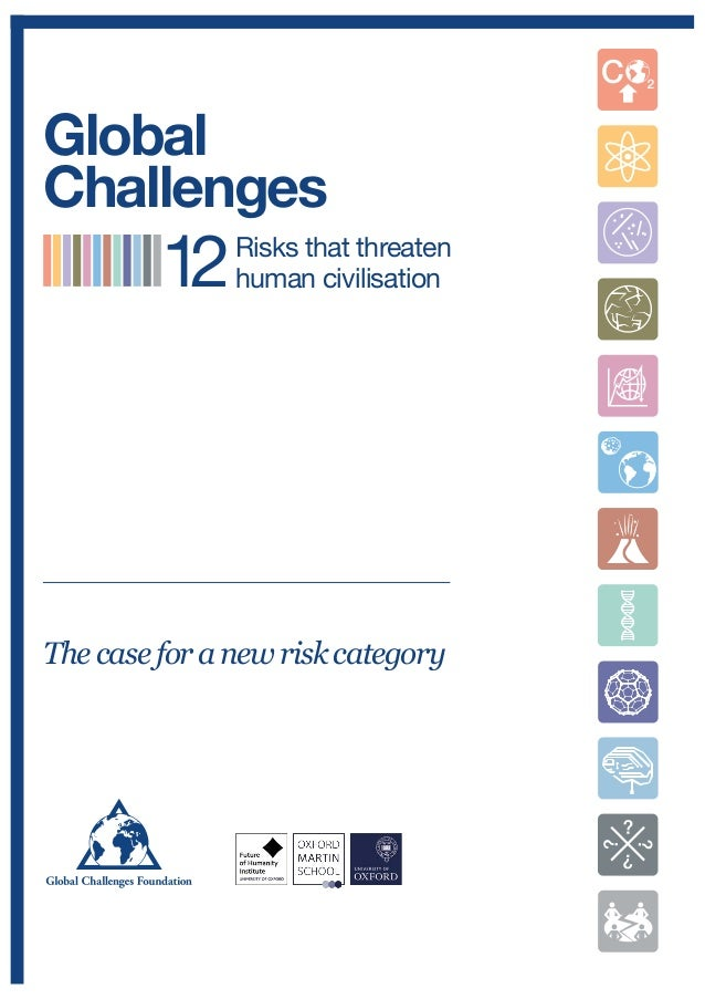 Thecaseforanewriskcategory Risks that threaten human civilisation Global Challenges 12 Extreme Climate Change NNanotechnol...