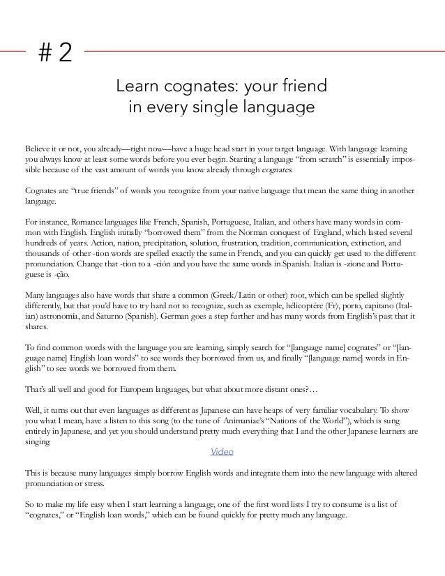 Rulestolearnlanguagesinrecordtime - World first language list