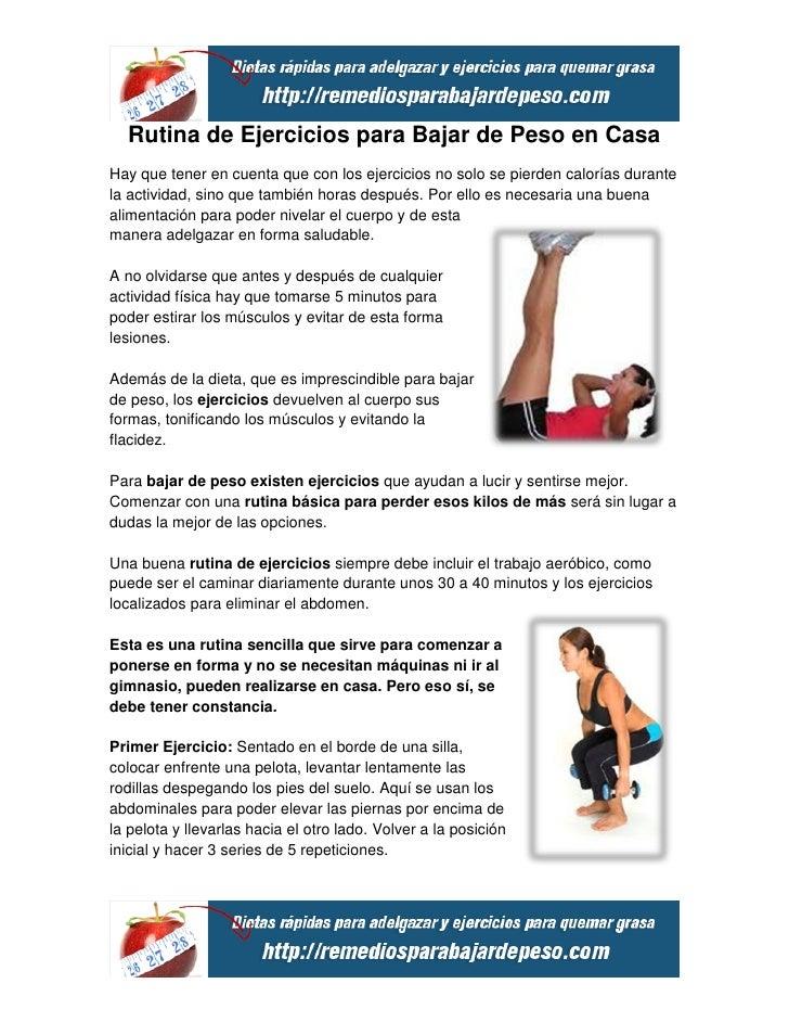 Rutinas de gimnasio para bajar de peso rapido