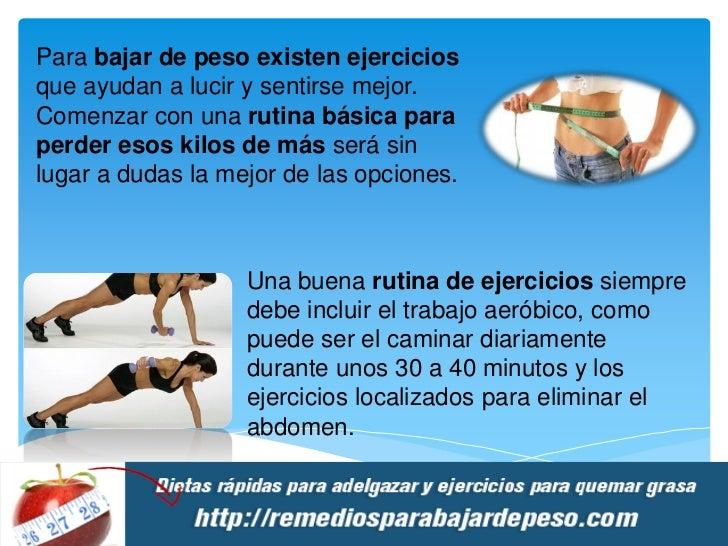 Rutina de ejercicios para bajar de peso en el gimnasio caminar