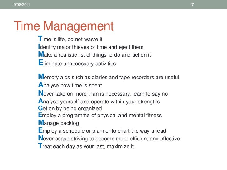 12. sales training time management