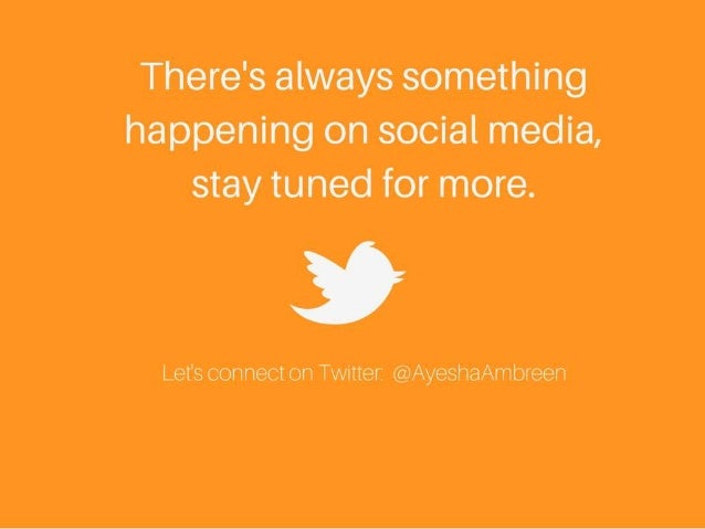 There's always something happening on social media, stay tuned for more.