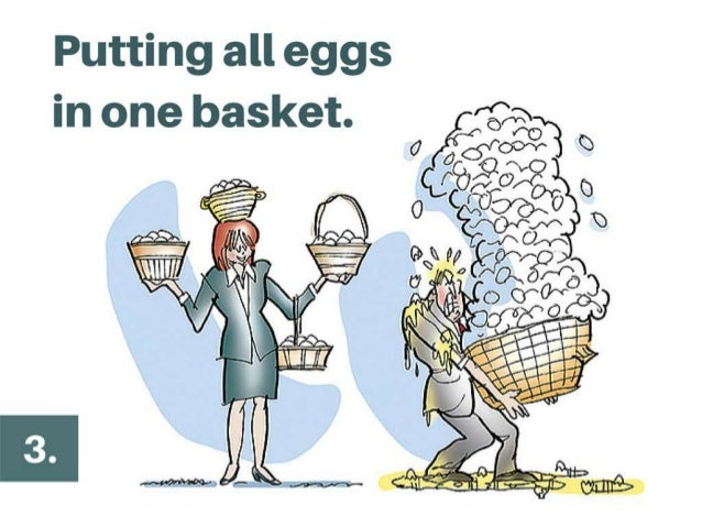 Putting all eggs in one basket. @AyeshaAmbreen