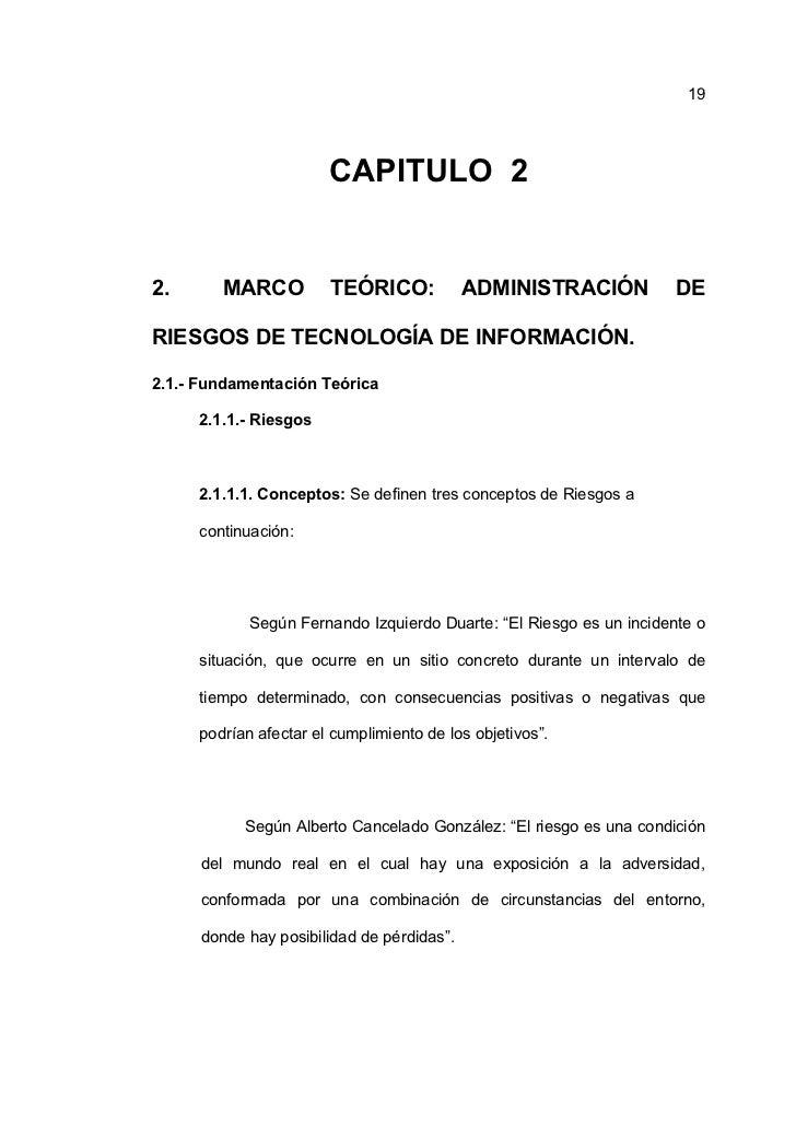 19                       CAPITULO 22.       MARCO         TEÓRICO:             ADMINISTRACIÓN           DERIESGOS DE TECNO...